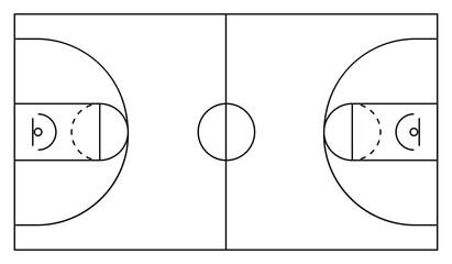 Basketball arena. White and black background. Vector illustration eps 10