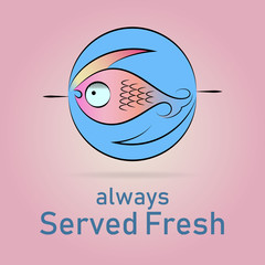 Fish logo for seafood restaurants and fishing related companies branding