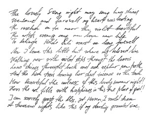 Handwritten letter Handwriting Calligraphy texture background