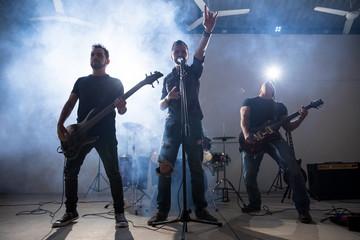 Rock band playing live music