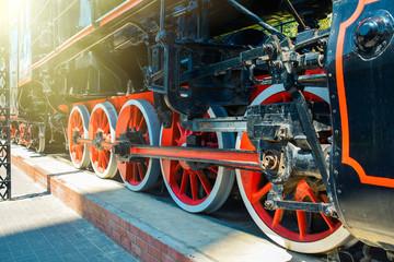 Old Soviet steam locomotive of the Second World War