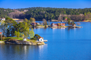 Swedish landscape with coastal villages