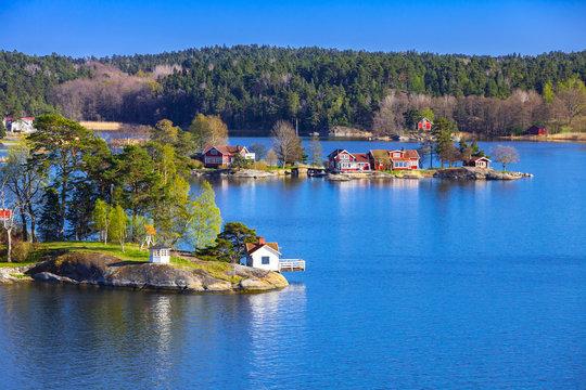 Swedish landscape with coastal villages