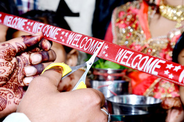 Indian Wedding Ritual Welcome Ceremony