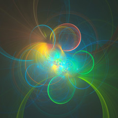 Abstract colorful fractal. Background, computer generated graphic.