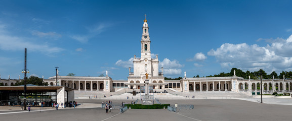 Sanctuary of Fatima, Portugal. An important Marian Shrines and pilgrimage location in the world for Catholics