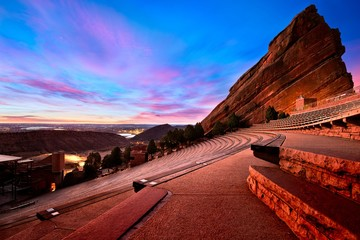 Red Rocks Park at sunrise, near Denver Colorado