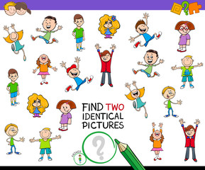 find two identical pictures game for children
