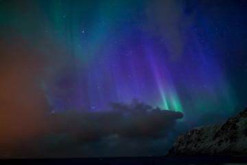 Aurora ылн in Skaftafell, iceland