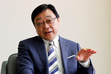 Idemitsu Kosan's President and Chief Executive Officer Shunichi Kito speaks during an interview with Reuters at the company's headquarters in Tokyo