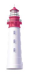 vector Lighthouse, light house, beacon maritime tower 02