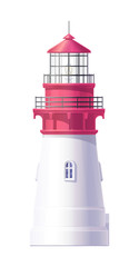vector Lighthouse, light house, beacon maritime tower 05