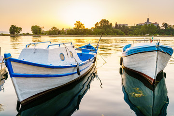 Boats in Sozopol harbor