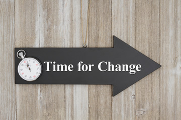 Retro Time for Change sign