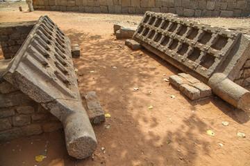 Karnataka, Hampi, India, ruins of the city of Vijayanagar