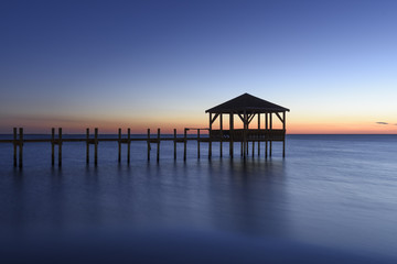 Blue Twilight with Pier and Oean