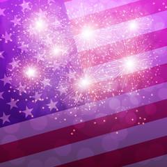 Lilac Fireworks Illustration.