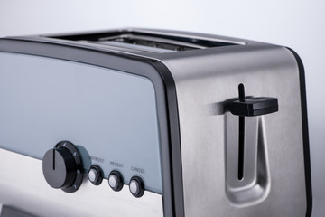 kitchen toaster on a light background, close-up. kitchen accessories