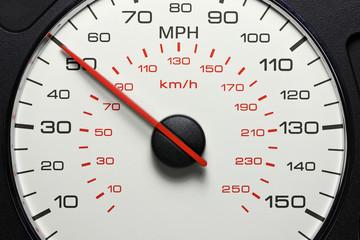 speedometer at 50 MPH