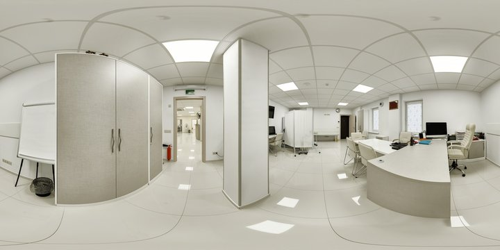 The doctor's office for diagnosing and setting anamnesis and prescribing a course before hospitalization. The doctor's office of the chief specialist in diseases panorama 360
