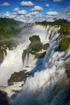 Detailed view of the Iguazu falls (Argentina)