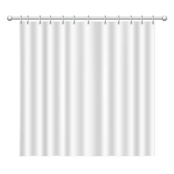 Blank white  curtain on white background