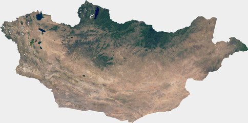 Large (27 MP) satellite image of Mongolia. Country photo from space. Isolated imagery of Mongolia. Elements of this image furnished by NASA.
