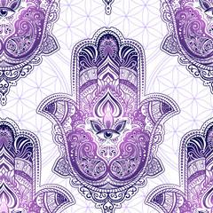 Seamless pattern Hamsa