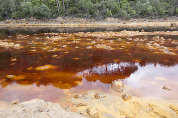 Red River (Rio Tinto) in Huelva, Spain