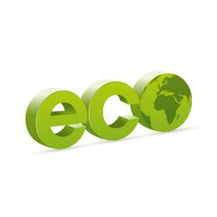Logo ecologia con mondo Europa