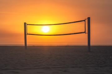 Volleyball Net Sunset