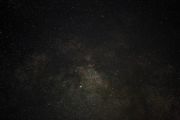Galaxy The Milky Way in the night sky with stars. A view of the open space. Photographed close-up on long exposure.