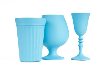 Three pieces of glassware
