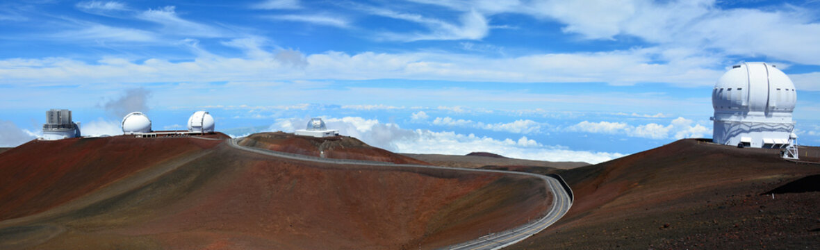 4,200 meter high summit of Mauna Kea, the world's largest observatory for optical, infrared, and submillimeter astronomy. Big Island of Hawaii.