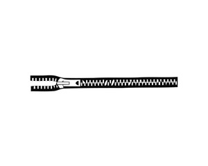 Zipper. Isolated on white background. Accessories and clothes elements. Vector illustration.
