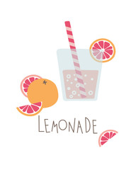 Fresh lemonade. Vector illustration