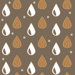 Almond milk - vector set of design elements and pattern for packaging background in linear style