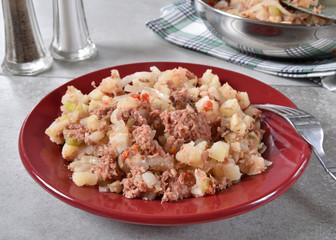 Plate of corned beef hash