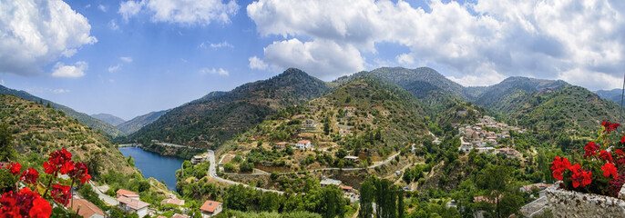 View of the landscape of the island of Cyprus