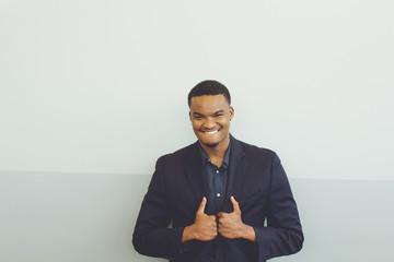 Millennial man smiling