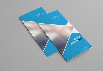 Business Brochure with Blue Accents