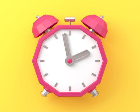 Retro alarm clock Old style 3d render