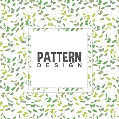 Colorful leaves plant beautiful wild branch with floral leaf botanical nature in seamless pattern background design