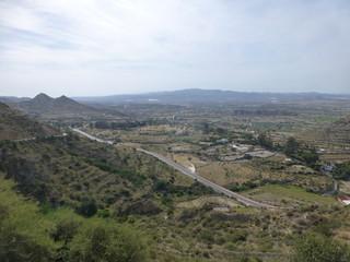 Mojácar, pueblo de Almería, en Andalucía, situado en la comarca del Levante Almeriense  junto al Cabo de Gata (España)