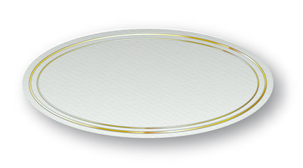 Paper Carved Badge Plate Blank Mockup - Vector Chic Oval Cardboard Template