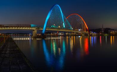 Expo Bridge in Daejeon,South Korea.