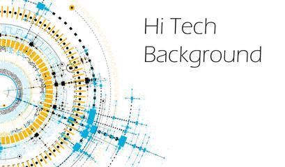 Vector HiTech Background - Technology Diagram Concept - Vector Graphic Template
