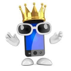 Vector 3d King smartphone