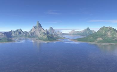 Primordial Landscape - fantasy illustration