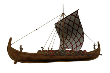 Viking Longship Illustration